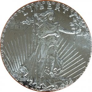 Mexican Overstruck coin